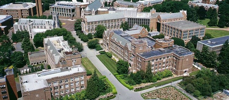 University of Washington Campus aerials